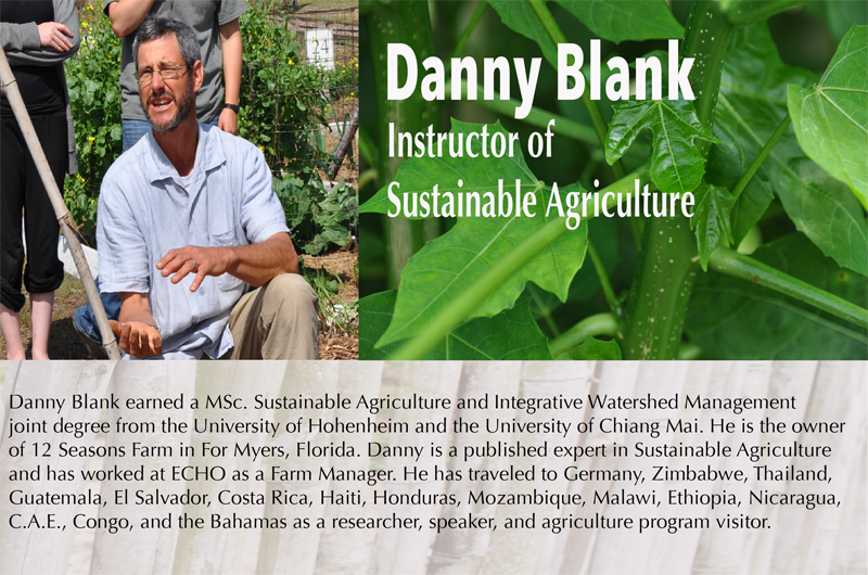 Danny Blank - HEART Institute - Central Florida, Lake Wales, Florida - Sustainability Training - Missionary Training