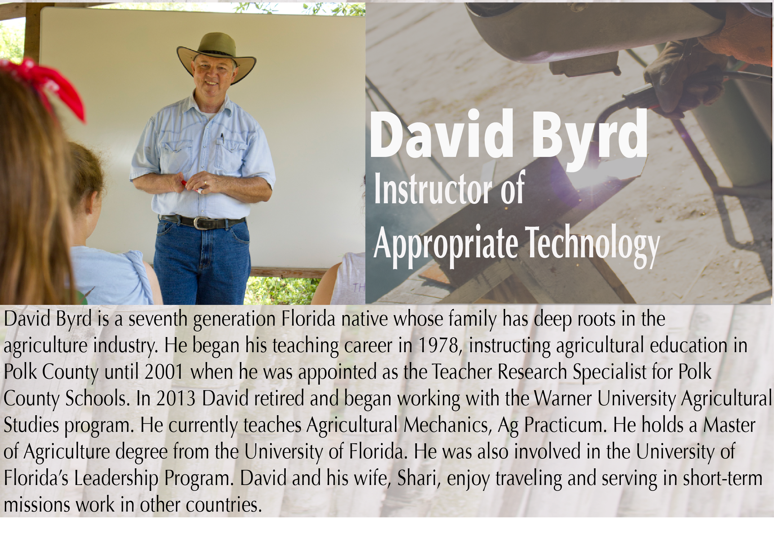 David Byrd - HEART Institute - Central Florida, Lake Wales, Florida - Sustainability Training - Missionary Training